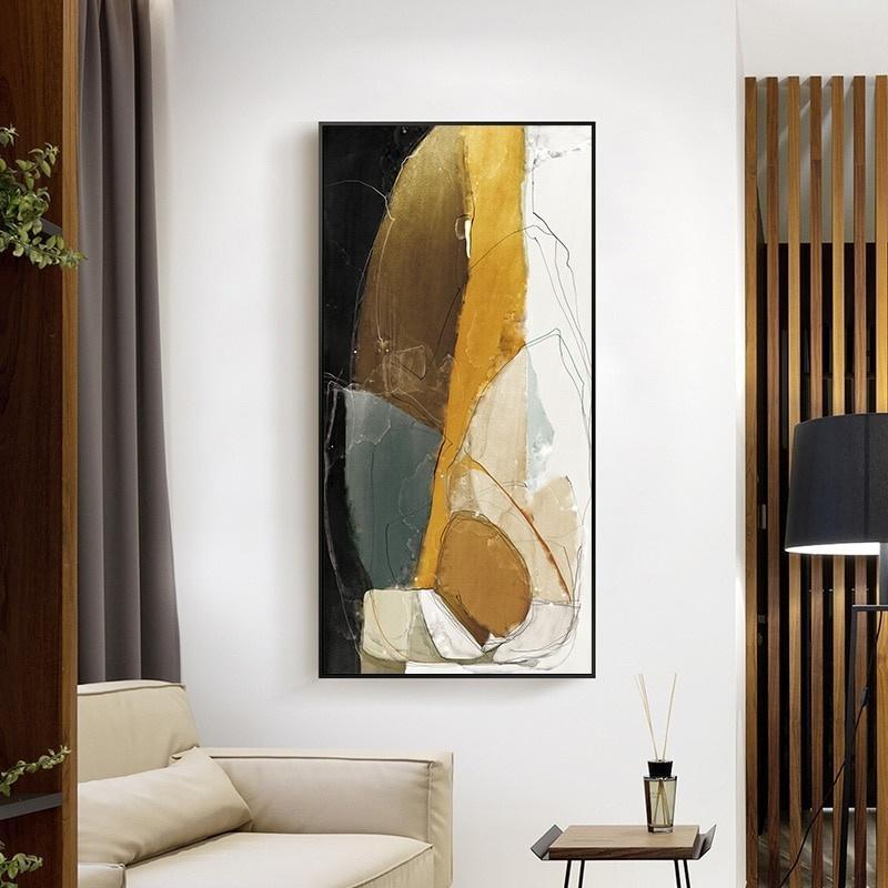 Modern Soyut Wall Art Canvas Modern İskandinav İskandinav Posterler Boyama Salon Koridor Dekor için Baskılar Minimalist Duvar Resimleri