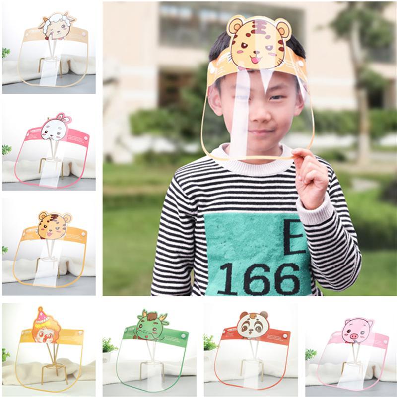 Moda bambini Visiera fumetto della stampa mascherine trasparenti bicicletta della mascherina protettiva antipolvere multifunzionale Full Face Covers 12 colori