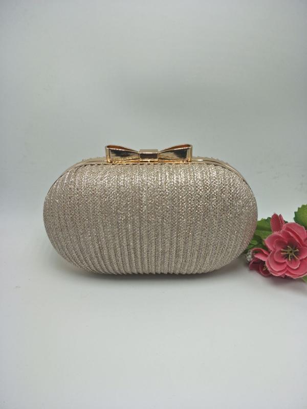 Kadın çantası 2020 yeni PU deri omuz çantası düz renk altın banket debriyaj elbise küçük yuvarlak