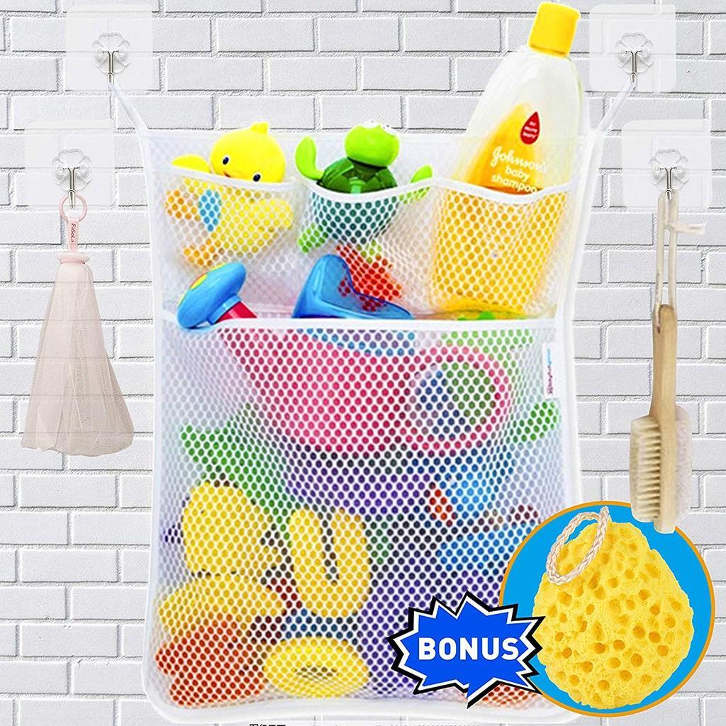 2019 Bathroom Baby Shower Toy Storage Bag Bathtub Bathing Mesh Doll Storage Bag Net Organizer Home