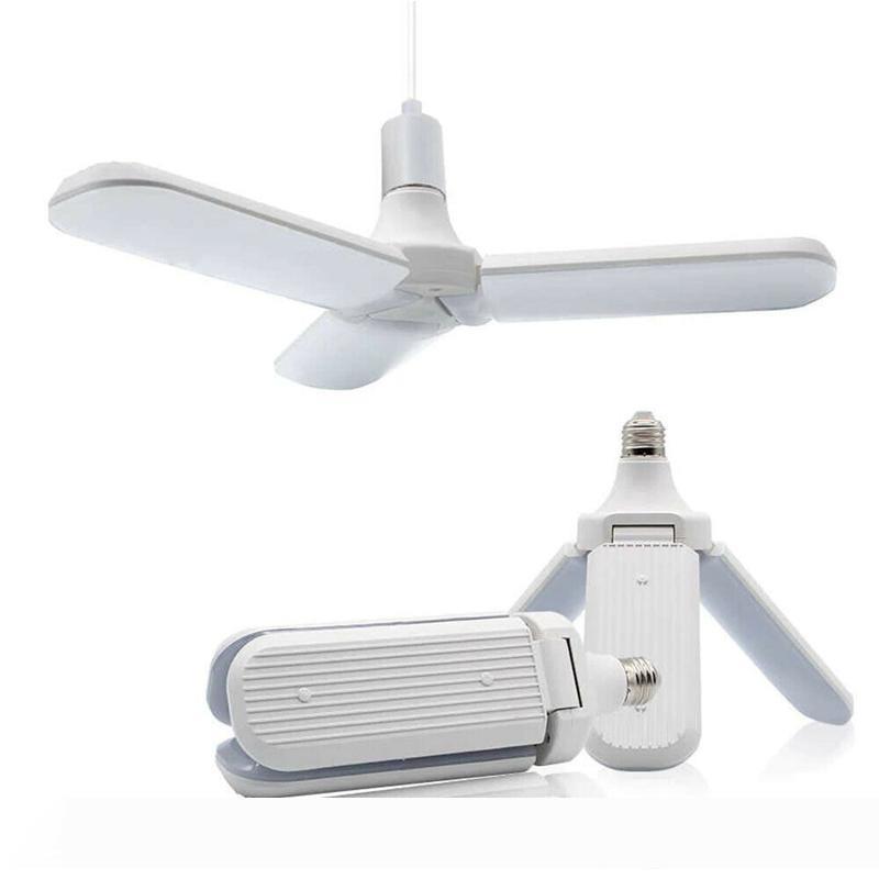 Edison2011 45W E27 LED Bulb SMD2835 Super Bright LED Foldable Fan Blade Angle Adjustable Ceiling Lamp Home Energy Saving Lights