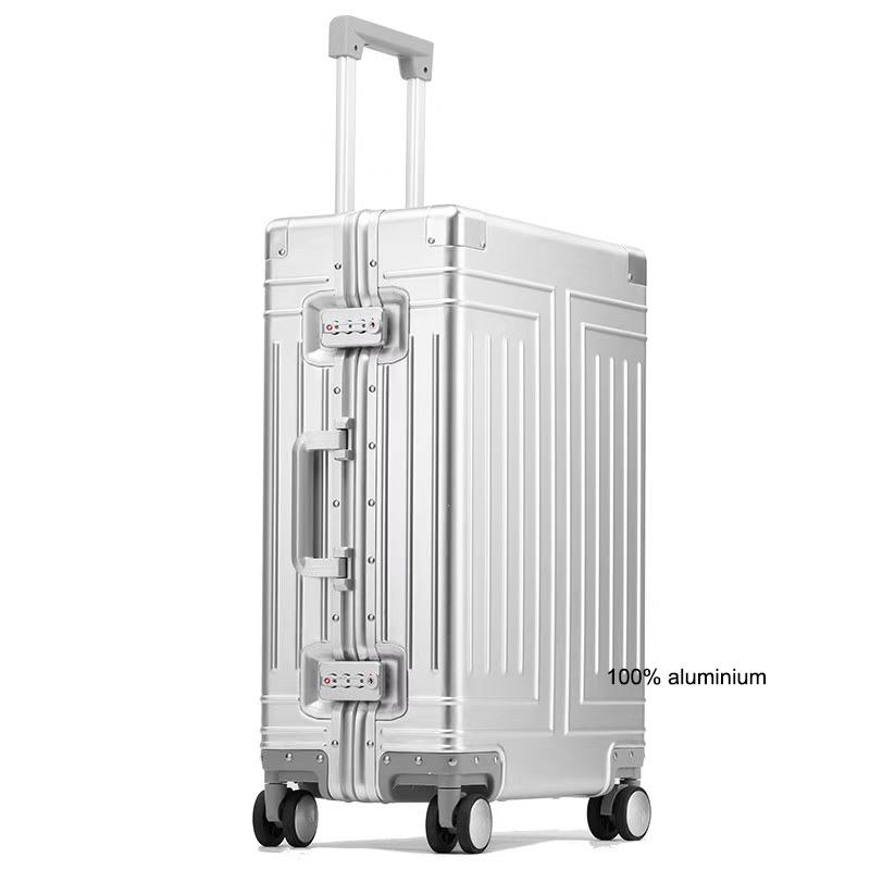 "Carrylove 20""24""26""29"" inch aluminum trolley suitcase waterproof metallic cabin luggage trolly bag with wheels CX200718"