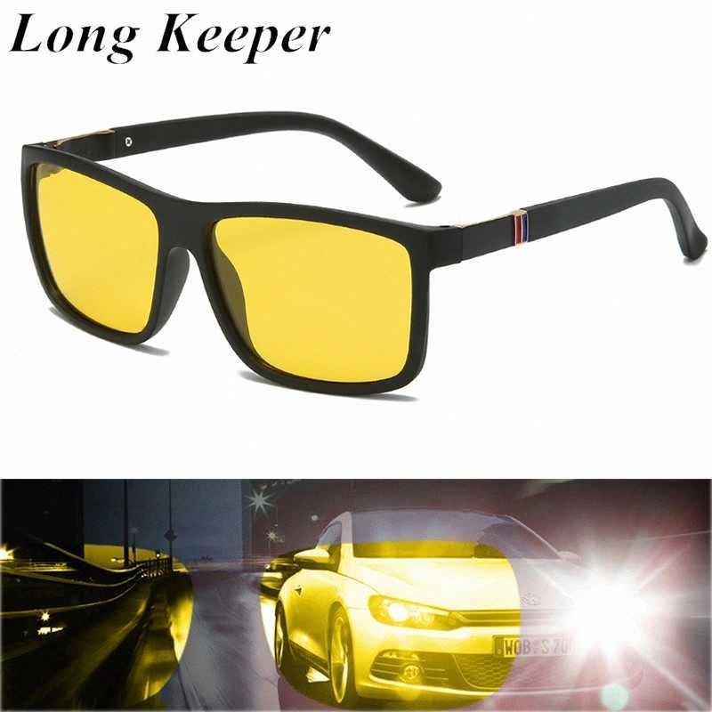 سائق LongKeeper العلامة التجارية للرؤية الليلية الاستقطاب النظارات الشمسية الكلاسيكية مستطيل نظارات عدسة الأصفر نظارات شمسية UV400 Gafas دي سول ثنائي البؤرة 1lkZ #