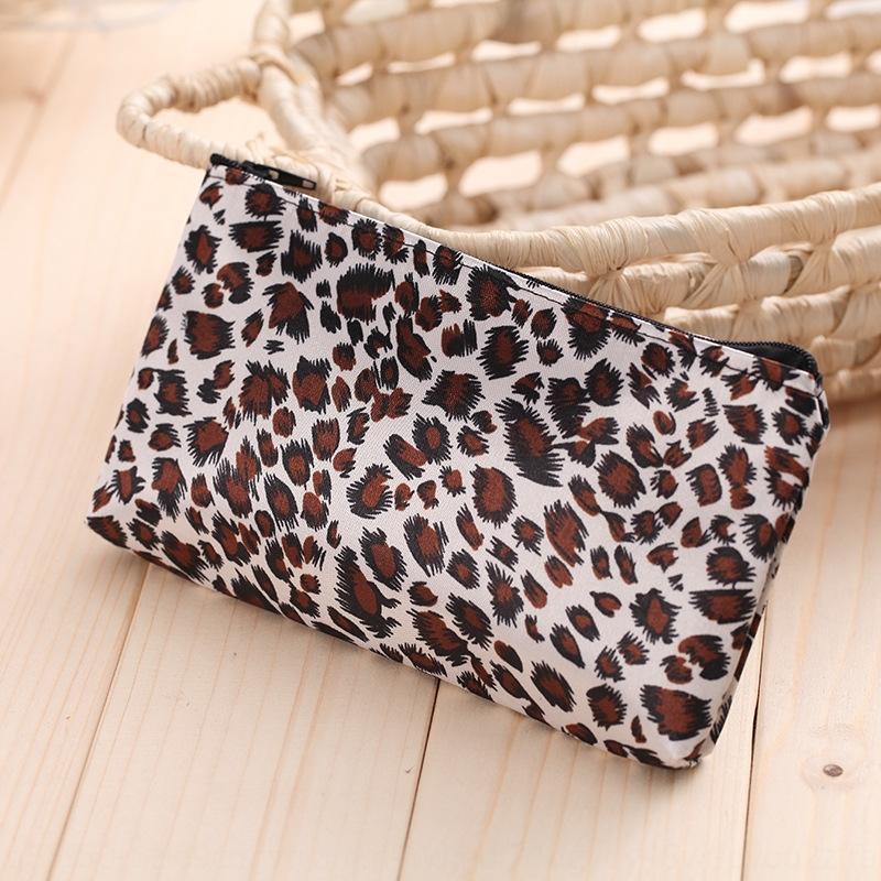 B100 Yiwu cosméticos zip bolsa de maquiagem cosméticos estampa de leopardo quadrado horizontal zíper das mulheres bolsa de maquiagem