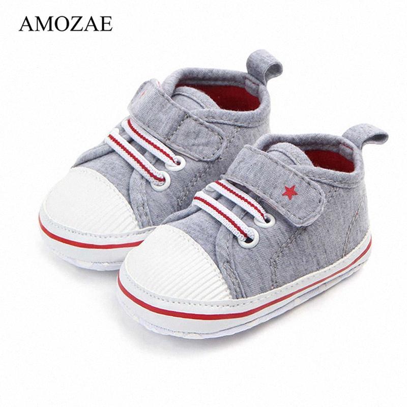 Yenidoğan Erkek Bebek Kız Ayakkabı İlk Yürüteçler Bebek Yumuşak Sole Kaymaz Bebek Ayakkabıları Toddler Klasik Spor Sneakers 0-18 M LMNK #