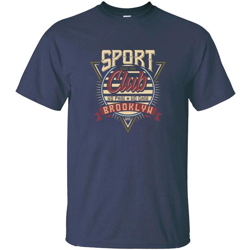 Настройка мода спортивного клуб ретро футболка для мужчин Письма Graphic Black Комиксы для взрослых Tshirts Большого размера 3XL 4XL 5XL