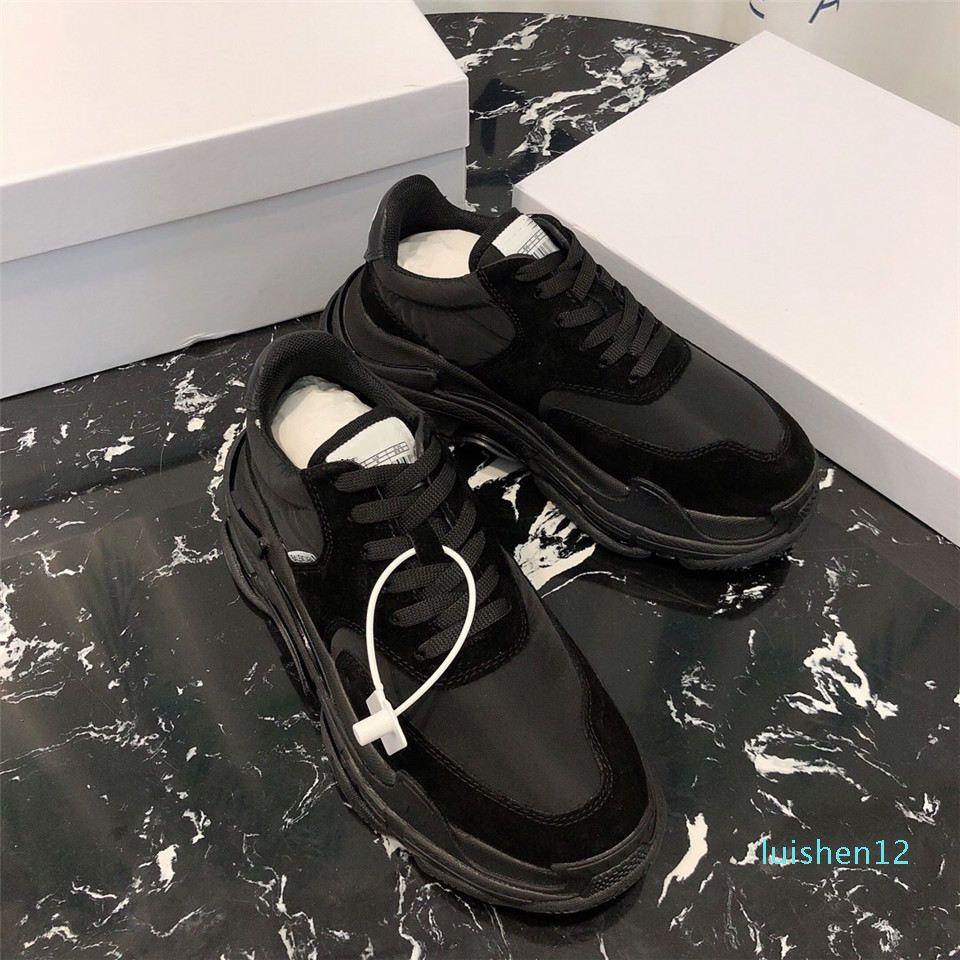 Calzado de diseño de lujo blanco zapatillas de deporte zapatos de plataforma auténticos formadores de cuero entrenadores reflectante blanco para los hombres de las mujeres planas de los zapatos ocasionales l12