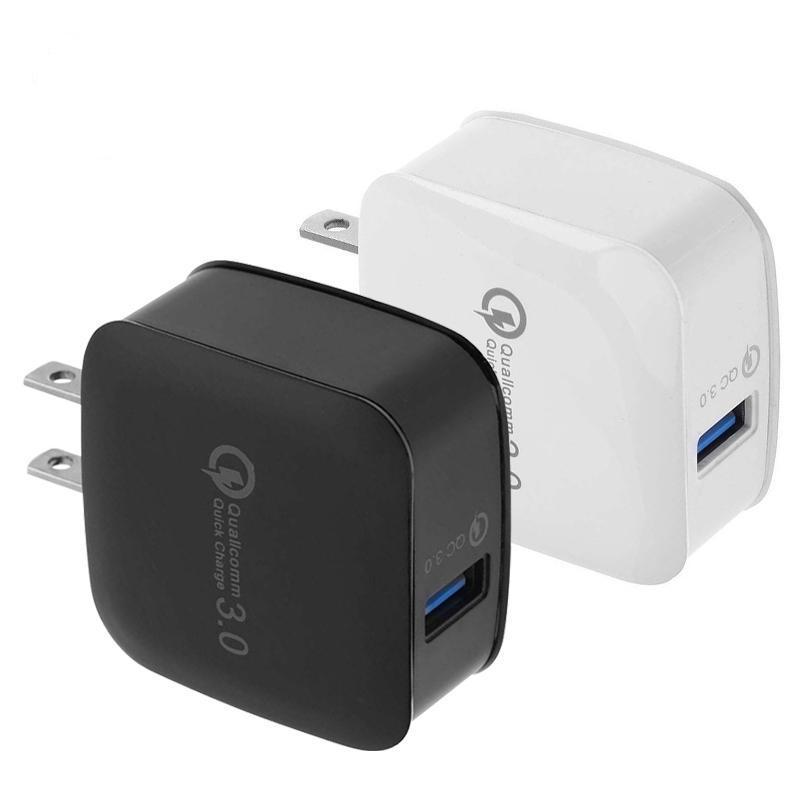 Alto Qualtiy Nueva QC3.0 carga cargador rápido 3,0 UE / EEUU cargador rápido 18W rápido cargador USB para Iphone Samsung Smartphones