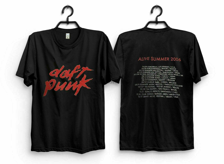 Daft Punk Vintage Camiseta excursão 2006 Camiseta Reprint Size S 3XL