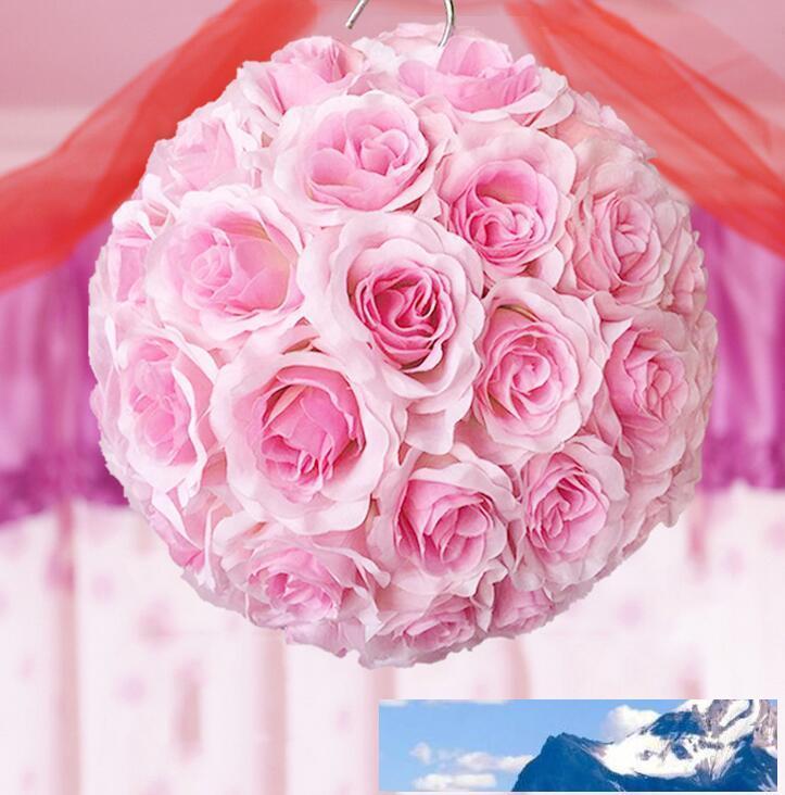 mariage balle kissing élégante balle Pomander Crypter balle pendaison fleur décorer décoration fleur artificielle pour le marché de fête de mariage FB012