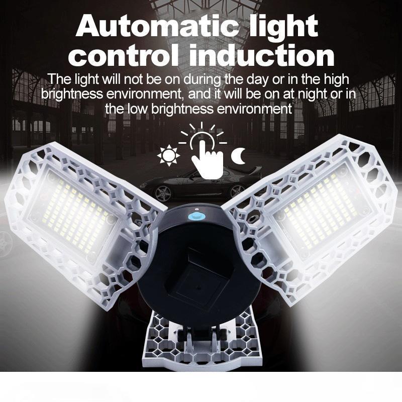 Гараж Light 100W 80W 60W светодиодные лампы E27 Светодиодные лампы LED Датчик деформируемого лампа освещения гаража 2PC LOT, 5PC LOT