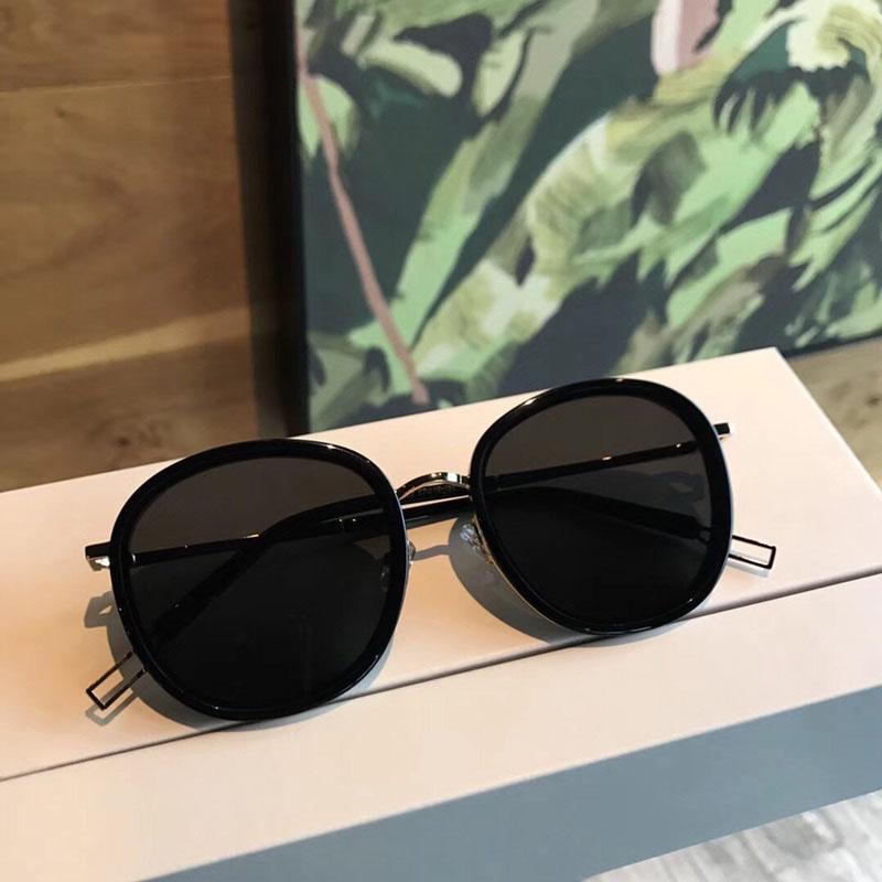 Marco de las señoras de la plaza gafas de sol de acetato mujeres del ojo de gato transparentes Gafas de sol Gafas de sol de verano con la caja original
