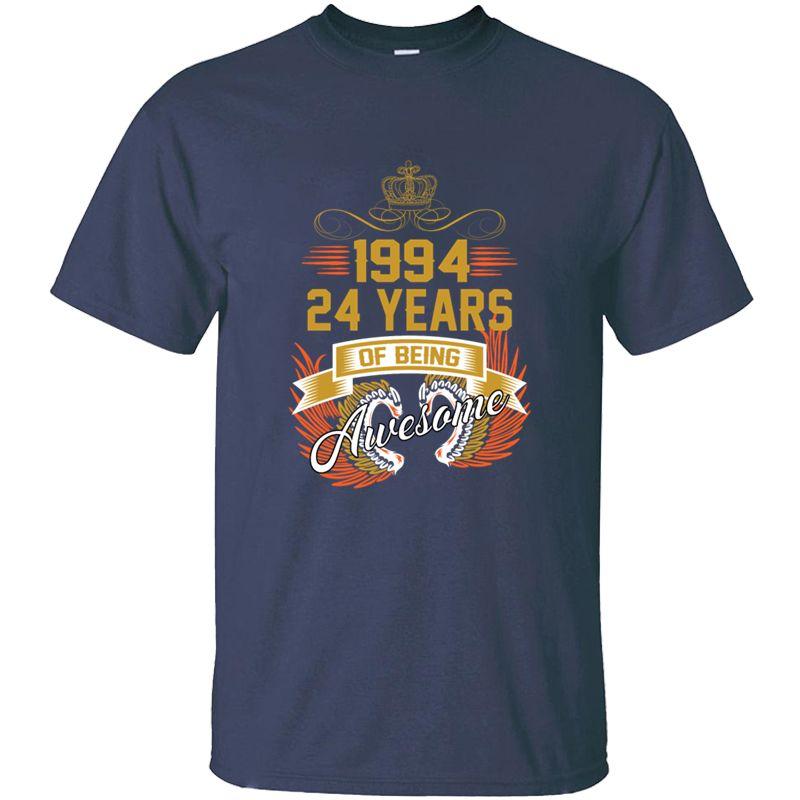 Personnalité 1994 4 ans d'être impressionnant T-shirt homme 100% coton Comical adulte T-shirts Big taille 3XL 4XL 5XL Tee Top