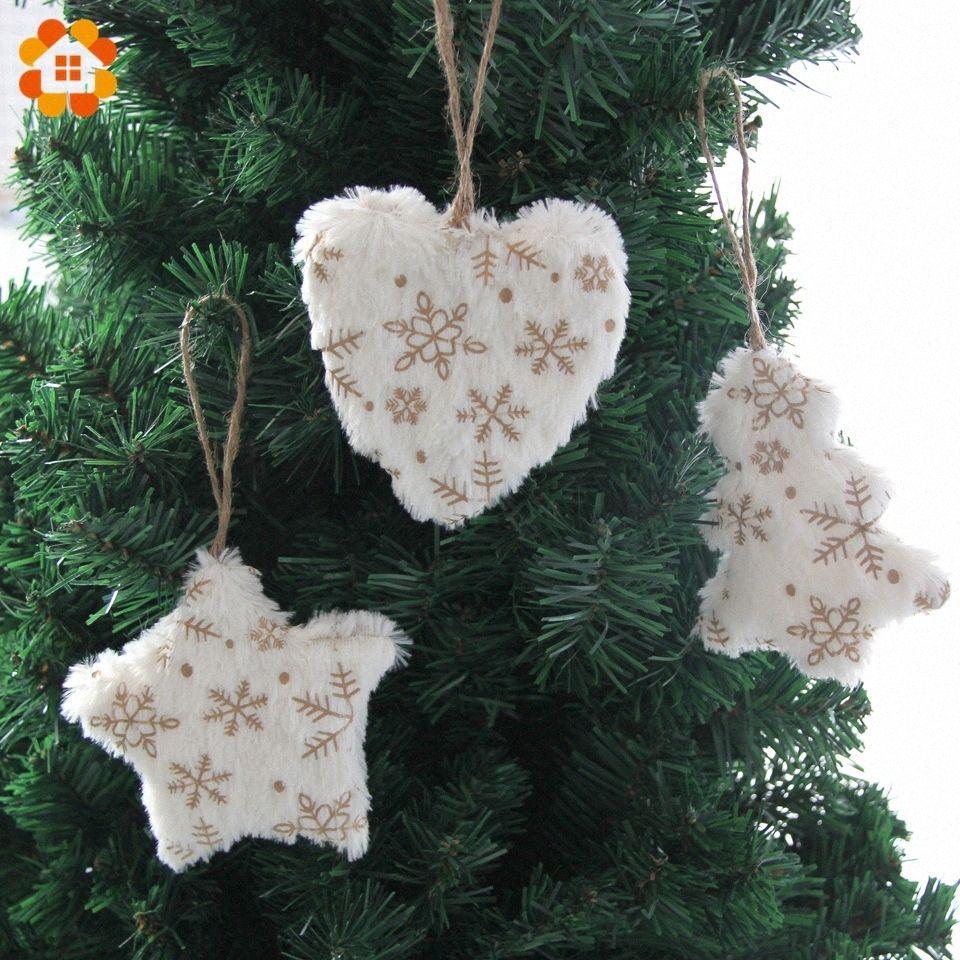 1pc or HeartCute WhiteStarTree Pendentifs Pendentif de Noël Ornements pour la maison Décorations fête de Noël Fournitures pour enfants cadeau KzsQ #