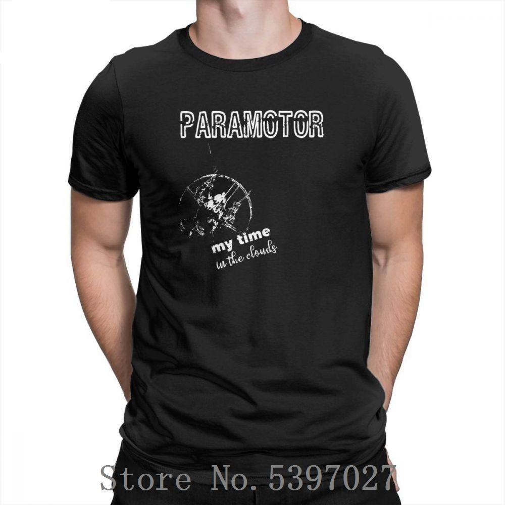 Algodón estilo simple paramotor y parapente T Shirts puros o cuello de gran tamaño de impresión camisetas 100% de las camisetas originales de los hombres de