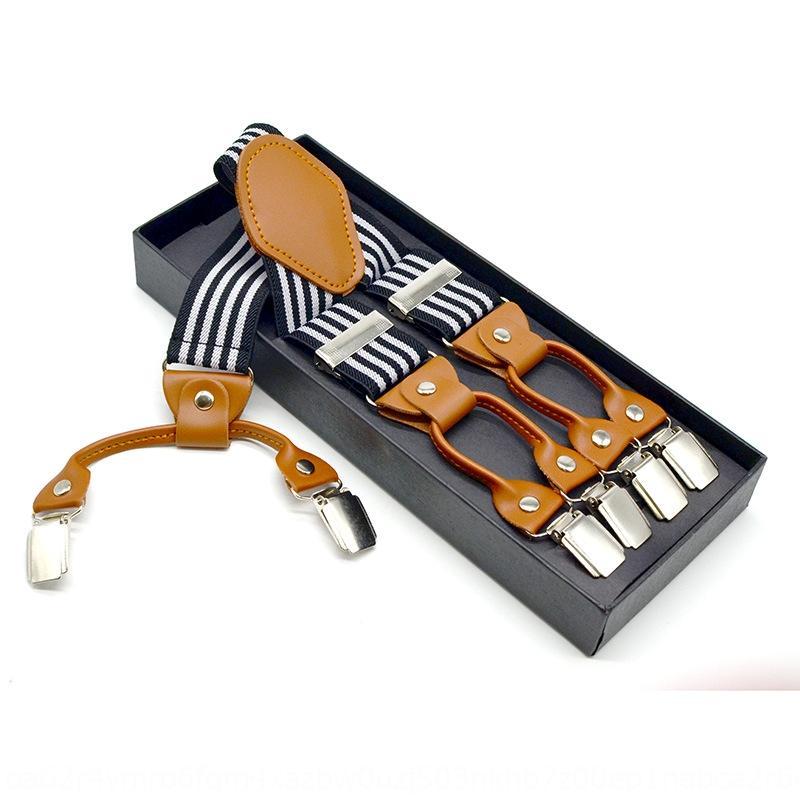 Sling strapShoulder tracolla quattro-clip da uomo strapjacquard cinghie elastiche per adulti camicia boxed tuta pantaloni cinghie bretelle di clip