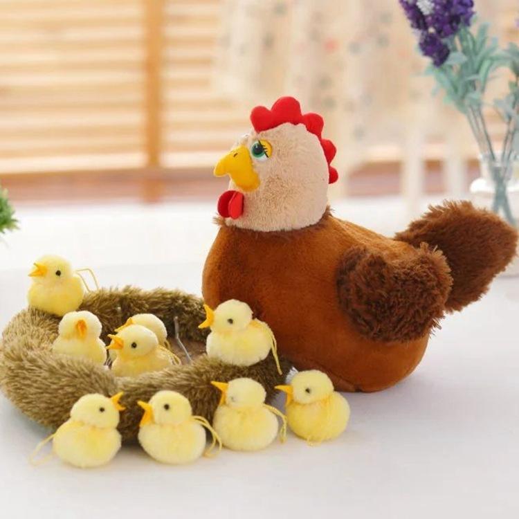 Kawaii Plüsch-Spielzeug Huhn-Henne Nettes Nest Küken Naturgetreue Stofftier Weihnachten Spielzeug Geschenke für Kinder Educational Kinder Plüschtier MX200716