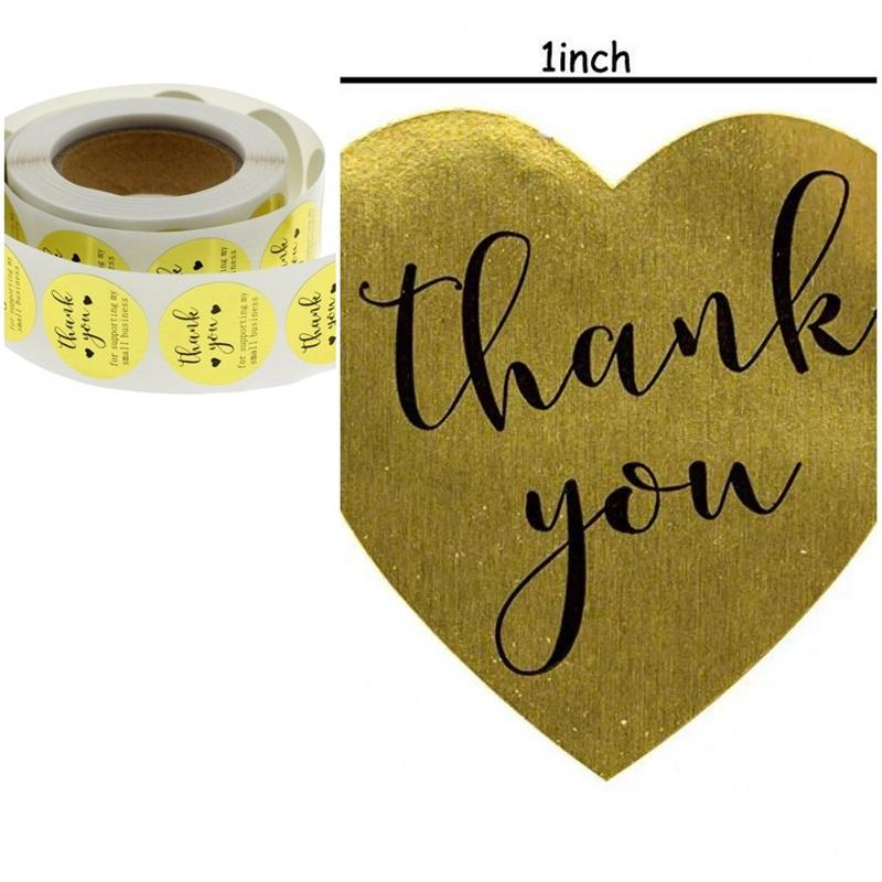 Neue Muster danken Sie Glossy Gold-Papier-Aufkleber handgemachte Fertigkeit Paster Aufkleber für Unterstützung meiner Small Business 2 99jr D2