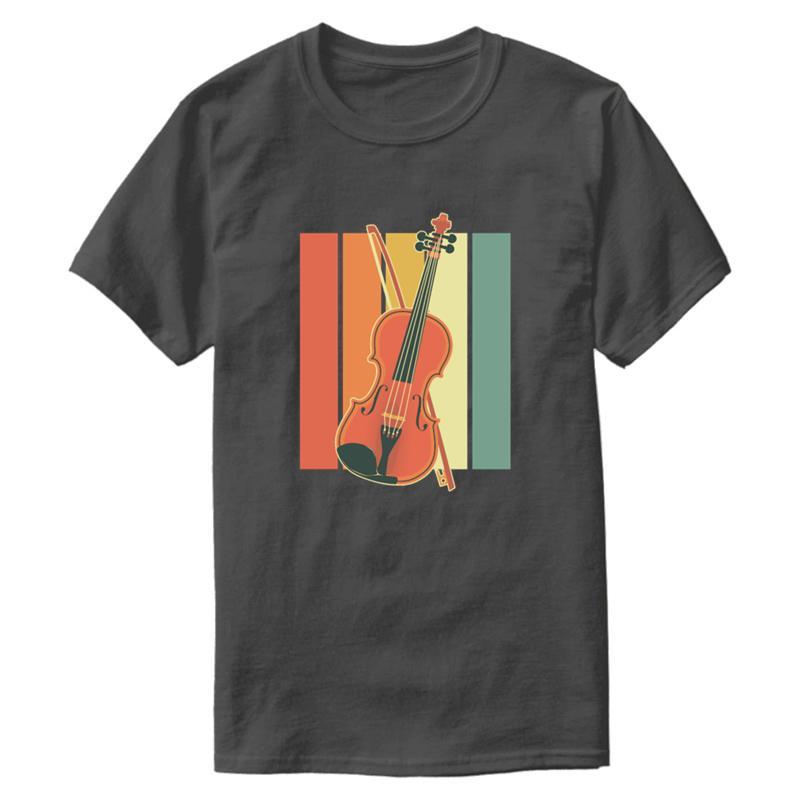Erkekler 2020 Streetwear Büyük Beden S ~ 5XL Kawaii Erkekler Tişört% 100 Pamuk Yuvarlak Yaka İçin Grafik Nefes Vintage Keman Tişörtlü