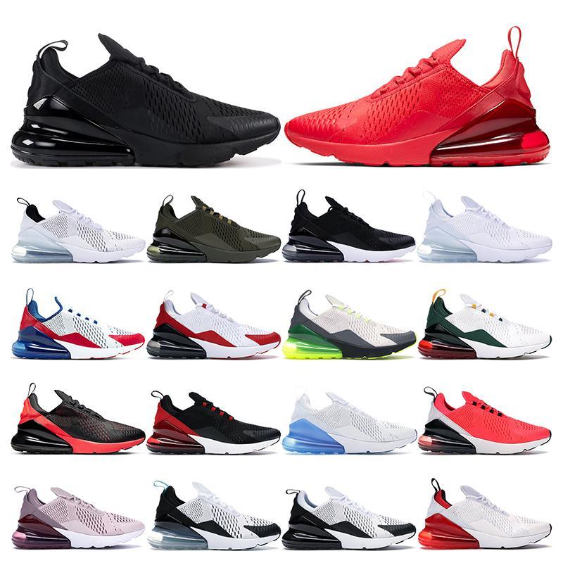 nike air max 270  pour hommes femmes triple noir blanc ont une journée South Beach Throwback avenir Hot Punch baskets de sport formateurs taille 36-45