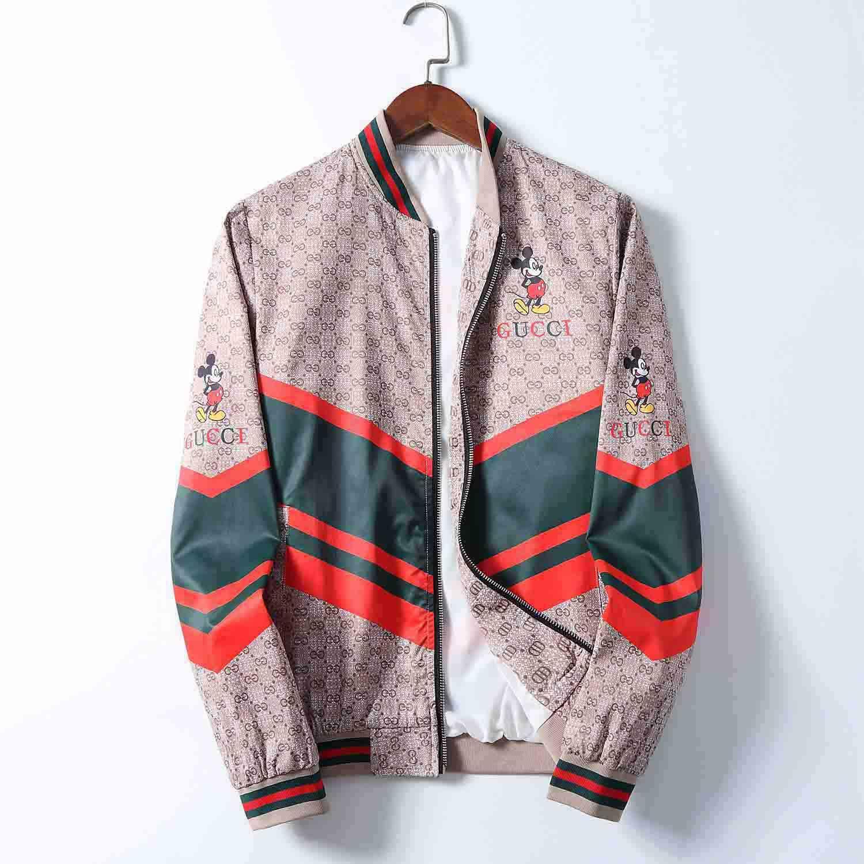 2020 Frühling und Herbst neue Jacke der Männer Mode Persönlichkeit Druck Stickerei Mantel Medusa Jacke lose Stehkragen Strickjacke Reißverschluss