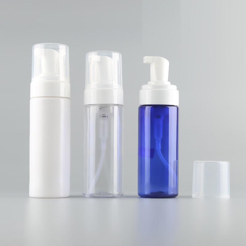 150ML 5OZ من البلاستيك الشفاف رغوي الصابون السائل مضخة زجاجة حجم سفر إفراغ موس رغوي الصابون لمستحضرات التجميل منظف الوجه