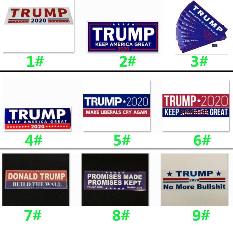 Donald Trump 2020 Autocollants voiture 7,6 * 22.9cm autocollant pour voiture Gardez Marque Amérique Grande Decal pour la voiture Styling Véhicule Paster 9 Styles HH9-2156
