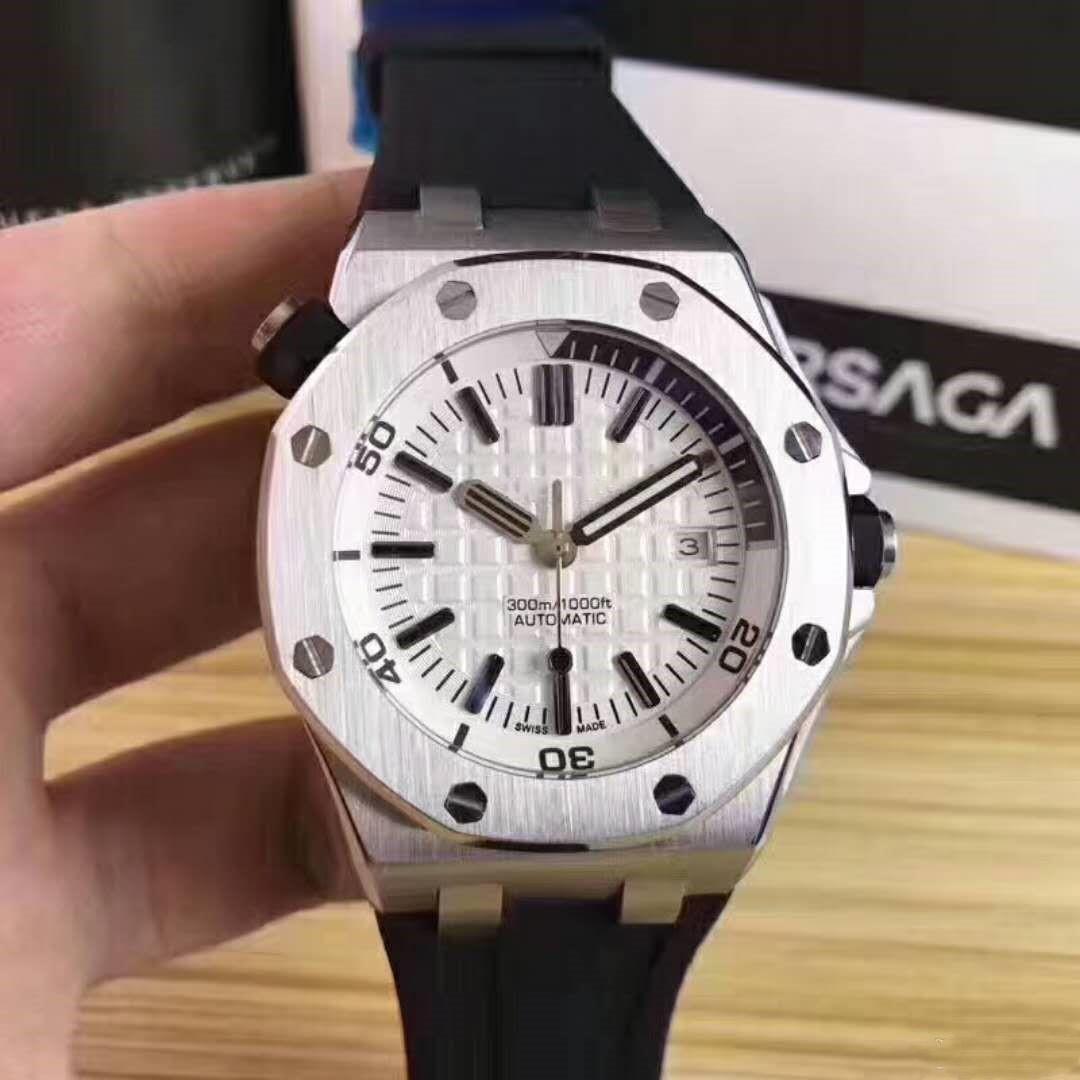 Royal Oak 15710 st. OO.A002CA.01, Saphirspiegel, 316 feine steel.Male automatische mechanische watch.Sports mechanische Uhr
