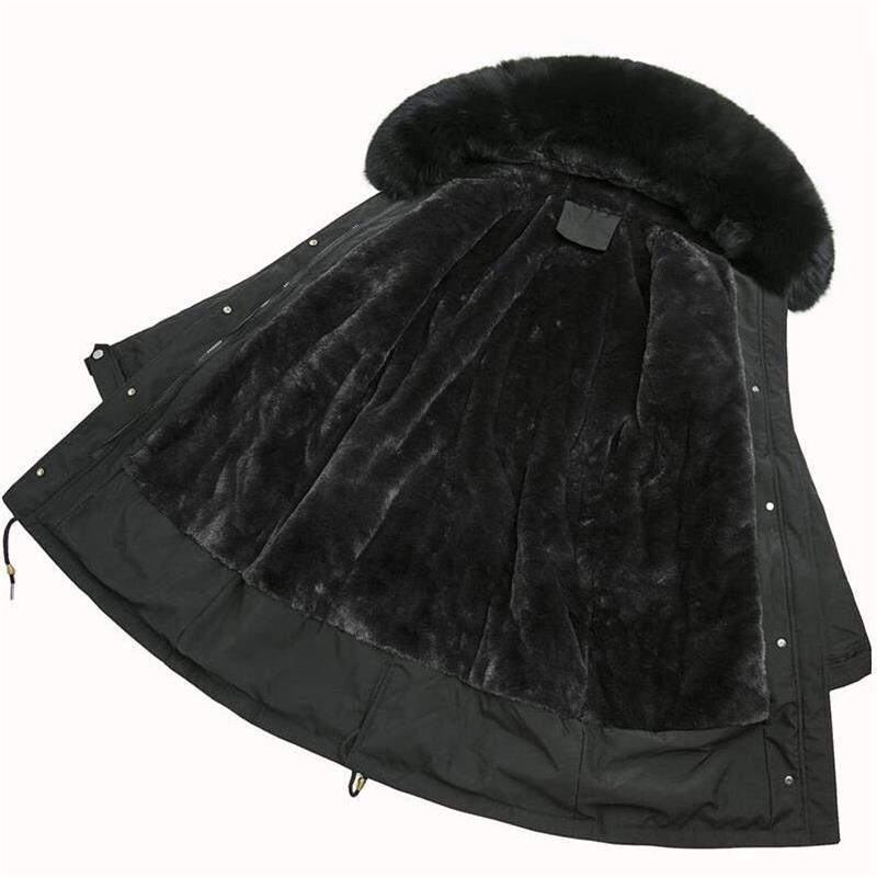 Grande inverno pelliccia femminile Giacca Nuova 2020 Parka con cappuccio Inverno Donne Wadded signore pelliccia calda fodera verso il basso delle donne