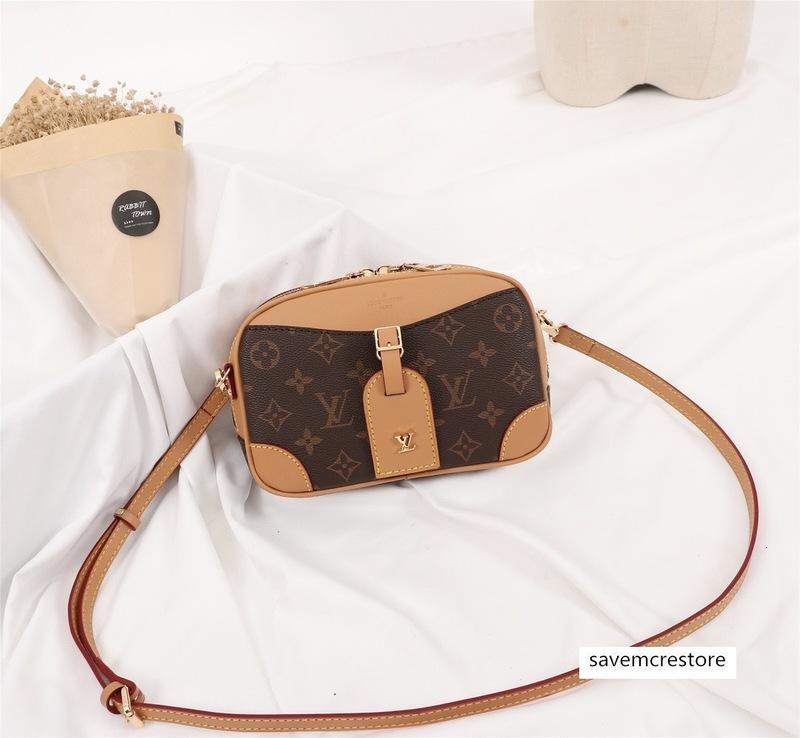 qualidade saco Designer mulheres Luxo saco mensagem de couro genuíno Mens designer bolsas de marca mochila 22-15-7cm M45528