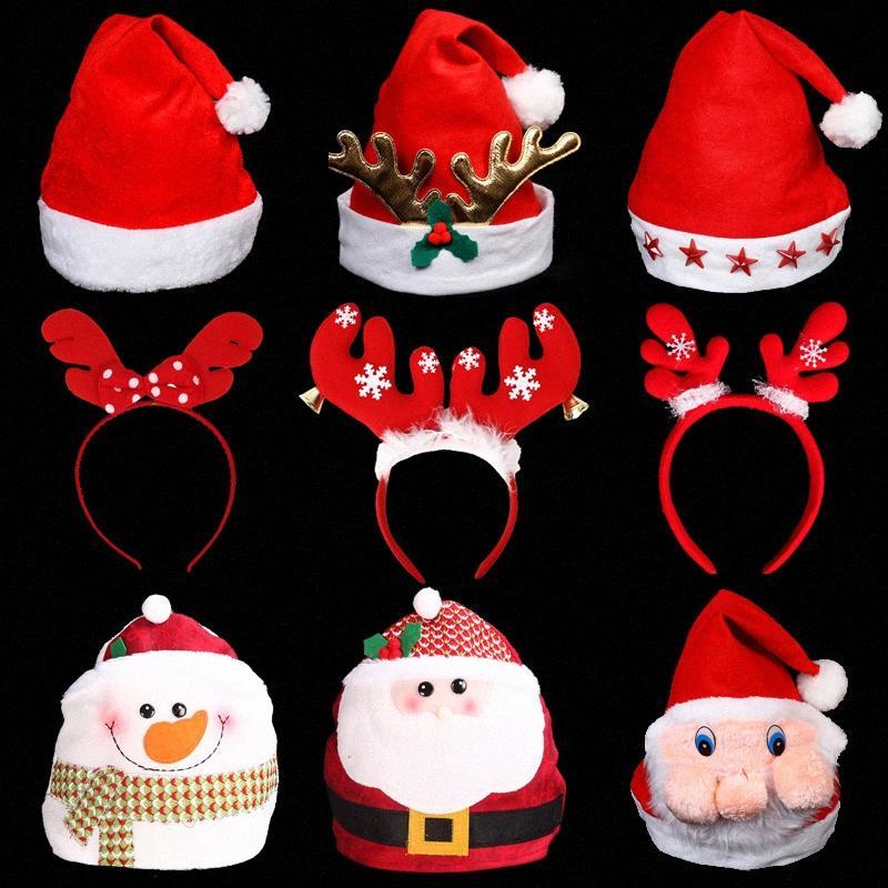 Regali di Natale Decorazioni di Natale Babbo Natale Cappello Adult Children LWZf #
