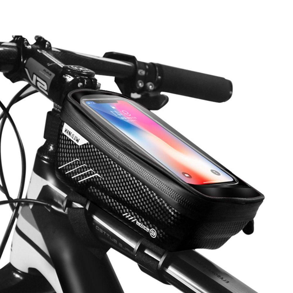 Водонепроницаемая сумка для велосипедов 4.7-6.2inch Smartphone Велоспорт Передней сумки велосипеда ламповых рулевого Паньер MX200717
