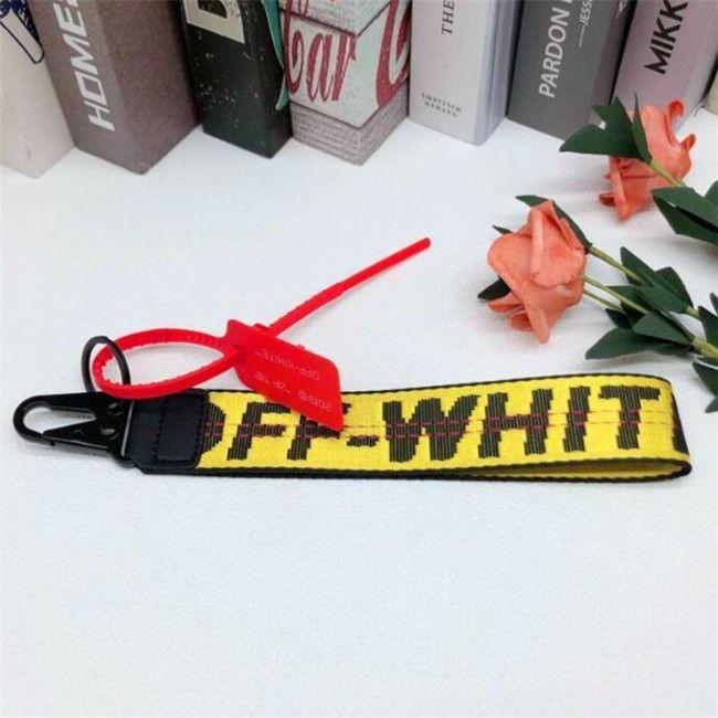 off tela cellulare catena chiave del telefono dei jeans europei ed americani di marca di marea con ciondolo fotocamera da polso belt8 bianco