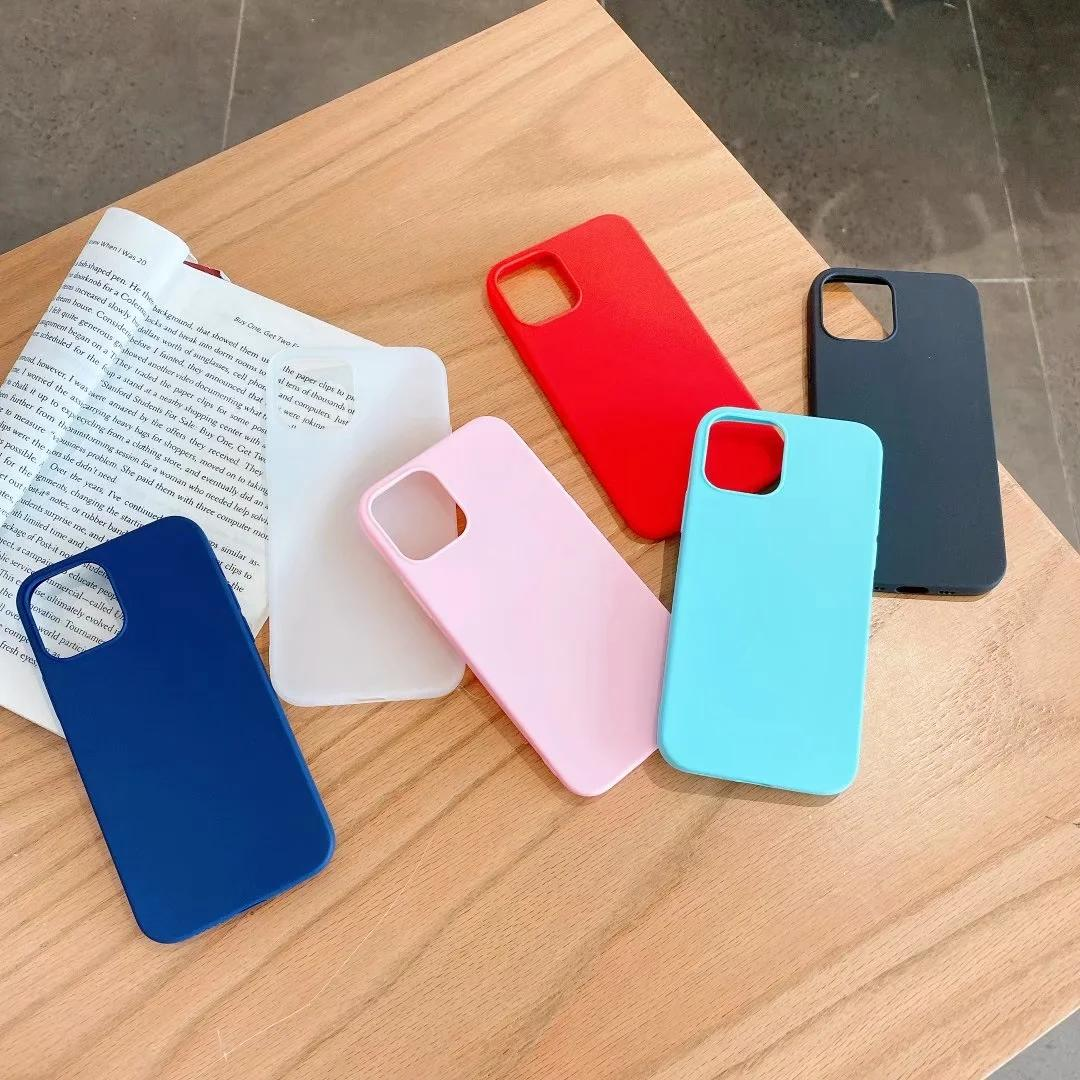Slim Matte Soft TPU Case For Iphone 12 Pro Max Iphone12 2020 New Ultra Thin Plain Ultrathin Fashion Phone Cover Factory Price