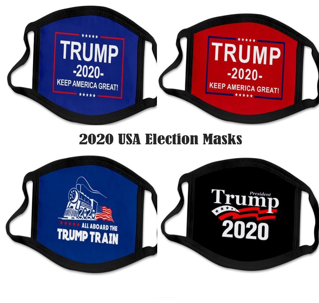 88 typów drukowanie 3D Trump 2020 Maska Wiatroszczelna bawełniana Usta Maski Dorosłych Dzieci Amerykańskie Wybory Stany Zjednoczone Maska Czarna maska DHL