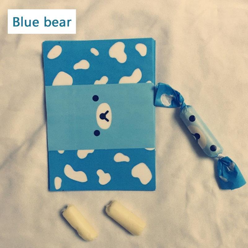 200Pcs / серия фантик мультфильм синий медведь шаблон Самодельный DIY упаковки конфет партия Крутящий вощеной бумаги нефтедобывающего оберточная бумага
