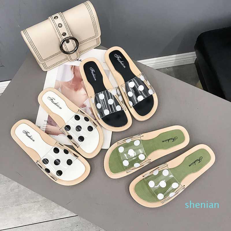 Hot-Les Femmes toes Loisirs Mode Beach Walk Chaussons Flat Couleur Student femmes Chaussures flip flops d'été chaussures T019