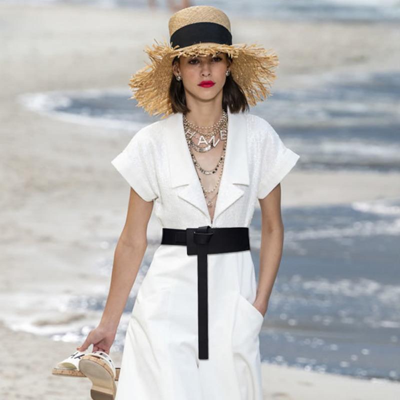 Annodate cinture donne in tutto di cuoio 2020 nuovo stilista Cummerbunds arco del vestito fibbia della cintura Tide