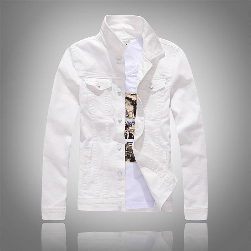 2020 printemps et l'automne Nouvelle-coréen blanc Veste en jean à manches longues Slim hommes Veste Noire