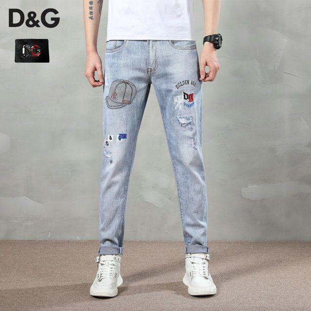 Новые моды для мужчин черные джинсы тощий рваные Stretch для Slim запад хип-хоп SWAG джинсовой мотоцикл байкер брюки Jogger ~~ # GJ183