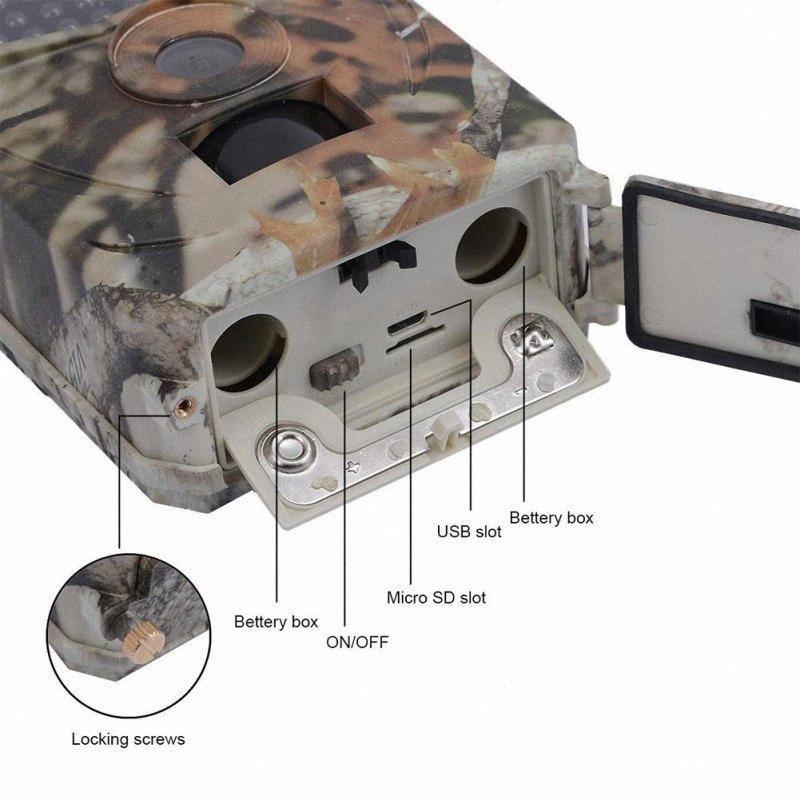 도매 사냥 PR100 사냥 카메라 사진 트랩 12MP 야생 동물 트레일 카메라 스카우트 게임 sgaG 번호