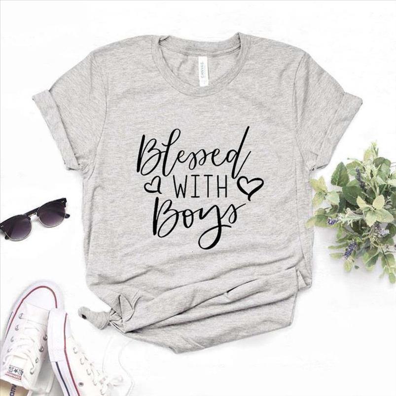Lady Üst Tee Hipster 6 Renk Na 750 için Boys Anne Baskı Kadınlar Tshirts Pamuk Casual Kısa Komik T Gömlek ile Kutsanmış
