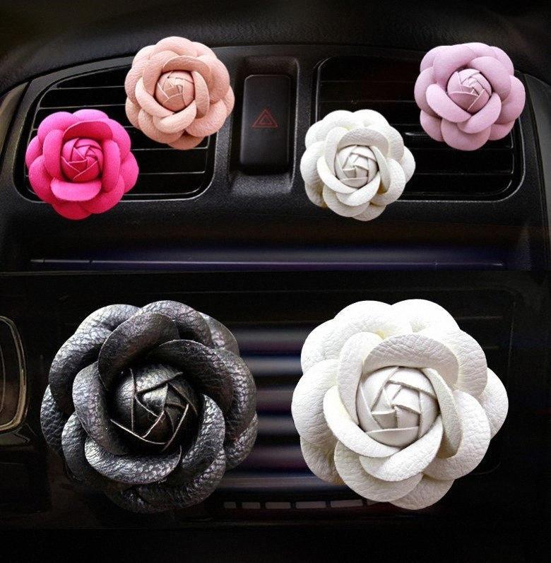 Car Styling Désodorisant Parfums Rose Style Air Vent clip DIY Décoration Outlet Perfumefor Conditioner voiture Vent parfum XiXr #