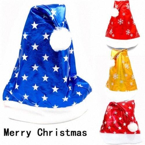 Formato adulto Natale Cappelli novità divertente Padre natale di Santa partito del costume Dya4 #
