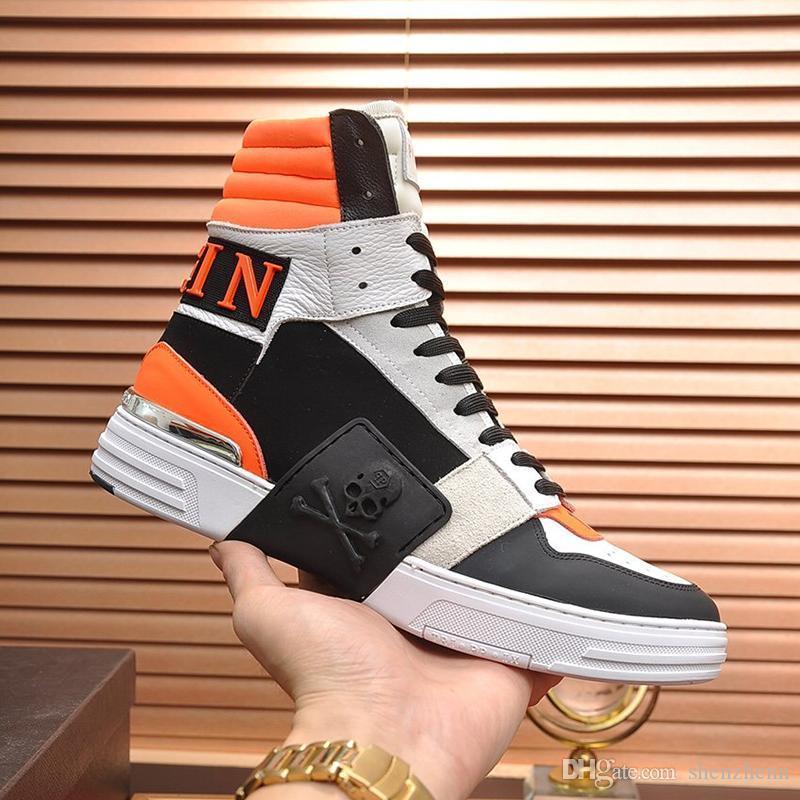 Scarpe Uomo Casual Moda Inverno Stivaletti traspirante Lace -Up Maschio Sneakers Chaussures pour hommes Mens Boots Luxury Design Vintage Vendita