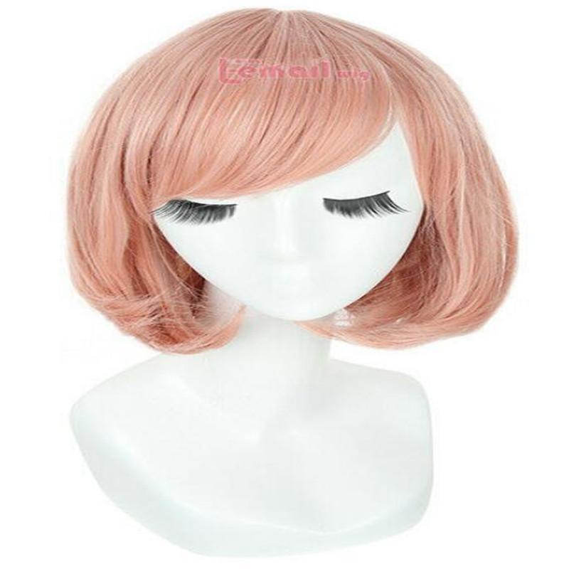 Nouveau Cosplay Kyokai pas kanata Rose Corail poire chef du Parti des cheveux perruque courte
