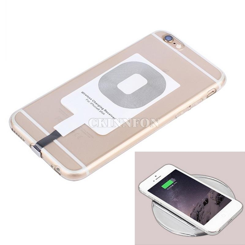 200pcs / Lot nuevo de la manera Qi cargador de energía de carga inalámbrica del receptor para IPhone 5 / 5s / 6/6 Plus (blanco)