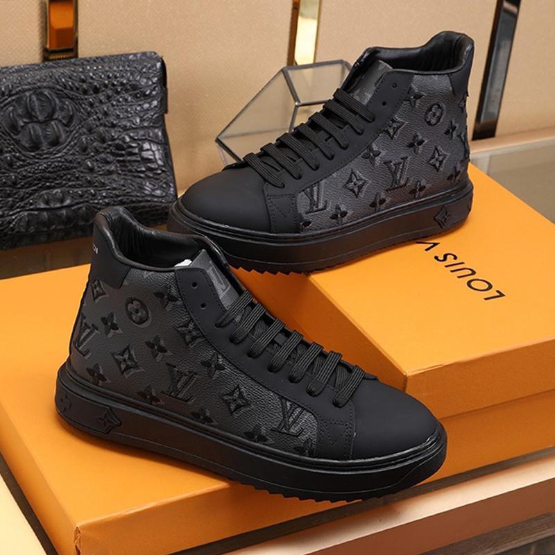Alta calidad del Mens Zapatos nave de la gota otoño y el invierno del diseñador del vintage del top del alto del tamaño extra grande Casual Zapatos Herren Marken Luxus Schuhe