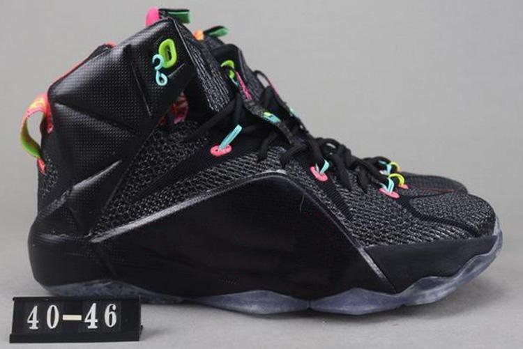 LeBron Atlética 12 zapatos Elite baloncesto de los niños de alta calidad de los hombres lo que el Negro Blanco oro metálico multi xshfbcl la zapatilla de deporte