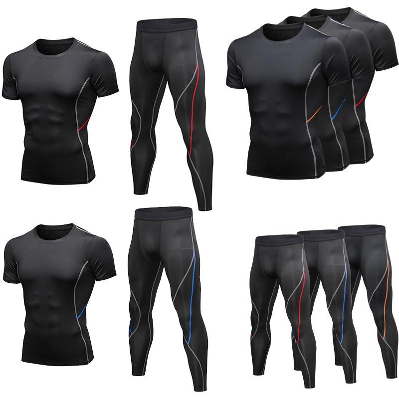 2020 T-shirts rapide Tight sec Fitness Course à pied T-shirts pour hommes de marque à manches courtes chemise de sport de compression Sport sport d'hommes
